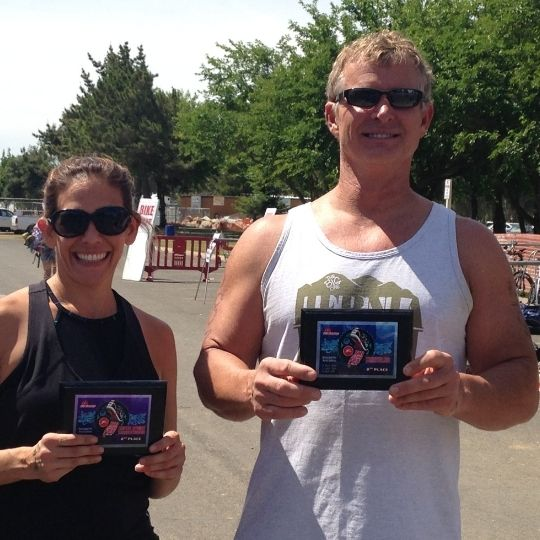 Jack Kautz of Lodi California and Sarah Seattle, WA Survivor Mud Run