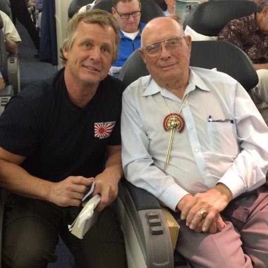 "Jack Kautz of Lodi California - Hershel Woodrow ""Woody Williams Medal of Honor Recipient - Guam"