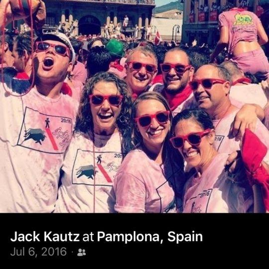 Jack Kautz of Lodi California - Running With The Bulls - Pamplona, Spain