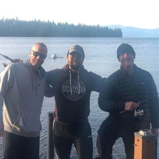 Jack Kautz of Lodi California - Fishing with Rich Hansen, Josh Carloni in Lake Tahoe, California