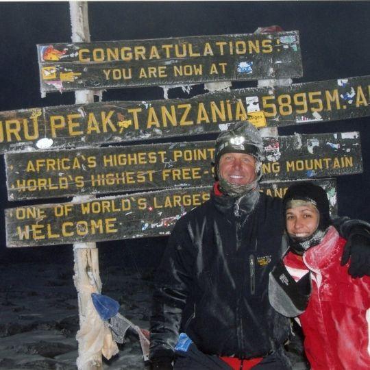 Jack Kautz of Lodi California and Sarah Mt. Kilimanjaro Summit Day 7